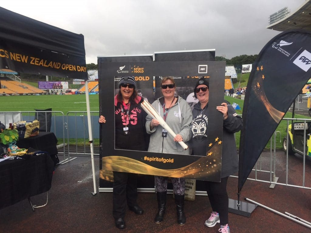 Warriors Charity Game Paralympics Stand
